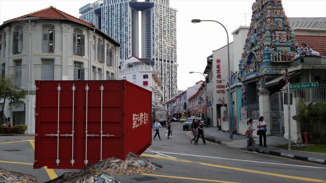 Flotsam & Jetsam, by John Craig Freeman, augmented reality public art, Singapore, 2013.