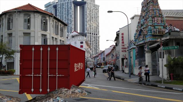 Flotsam & Jetsam, by John Craig Freeman, augmented reality public art, Singapore, 2013.